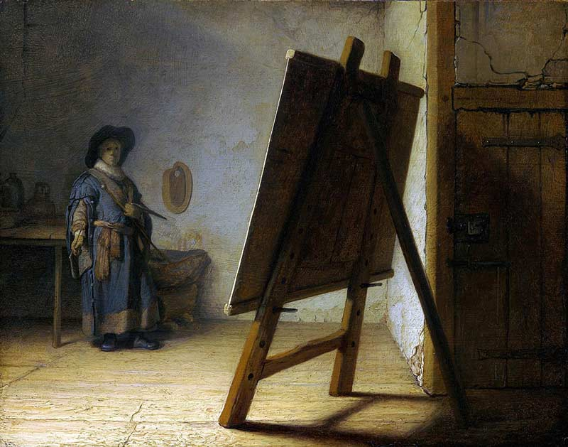 Rembrandt's painting, The Artist in His Studio