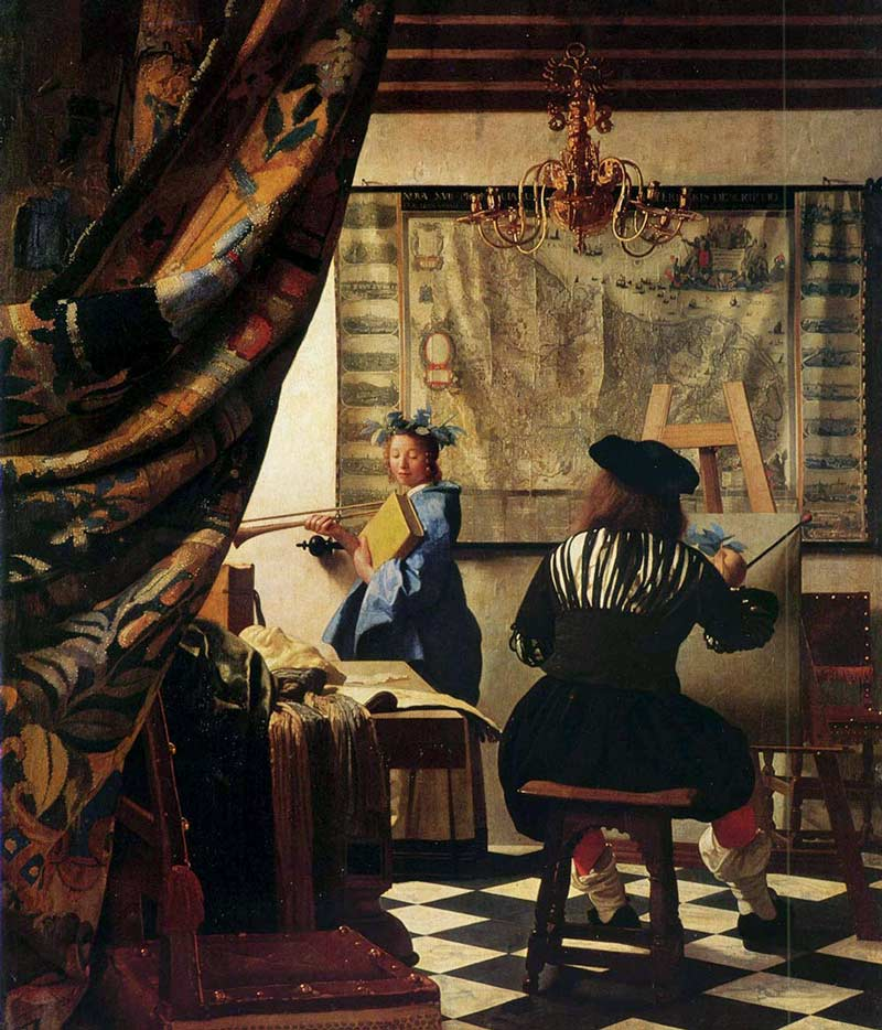 Vermeer's painting, The Art of Painting
